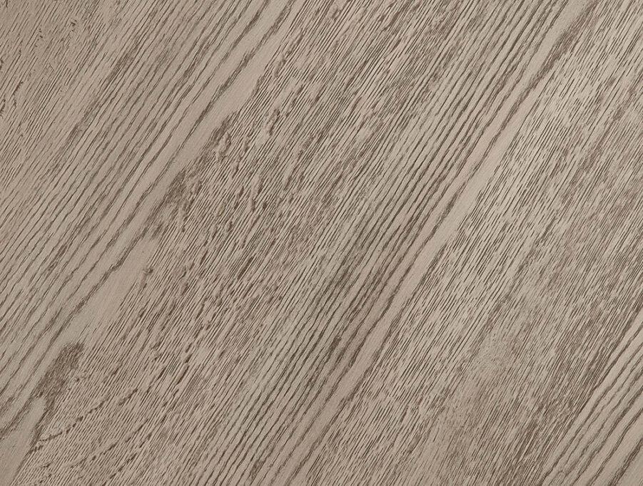 Detaljbild på ekfanér från Artwood i antikgrått.