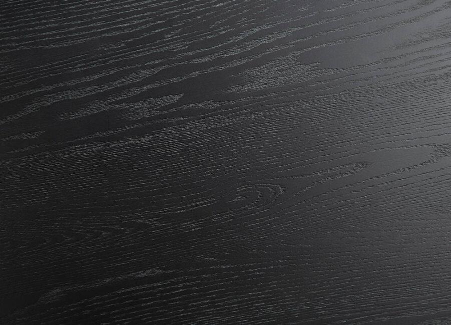 Detaljbild på svart ekfanér på möbler från Artwood.