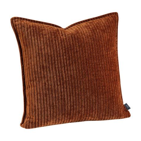 Kuddfodral i rostfärgat manchestertyg från Artwood.