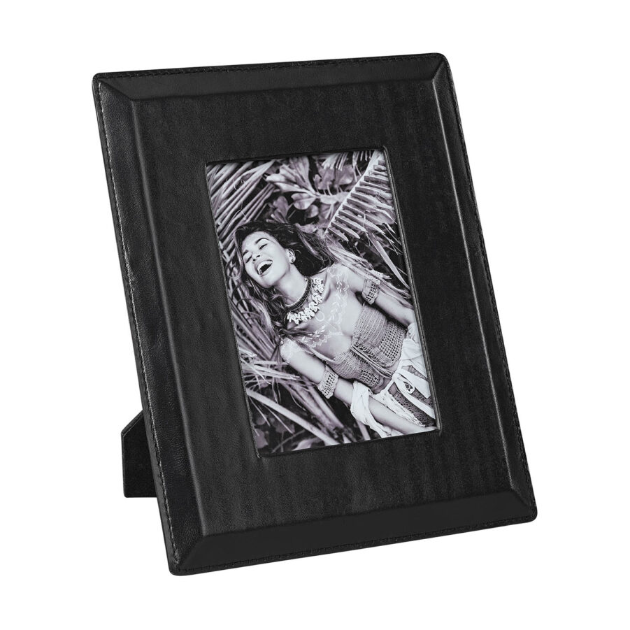 Mendoza fotoram från Artwood i svart skinn.