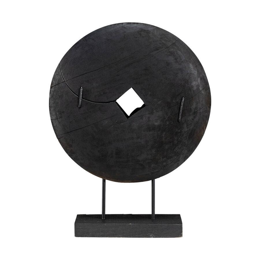 Troya dekoration i svart färg stor.