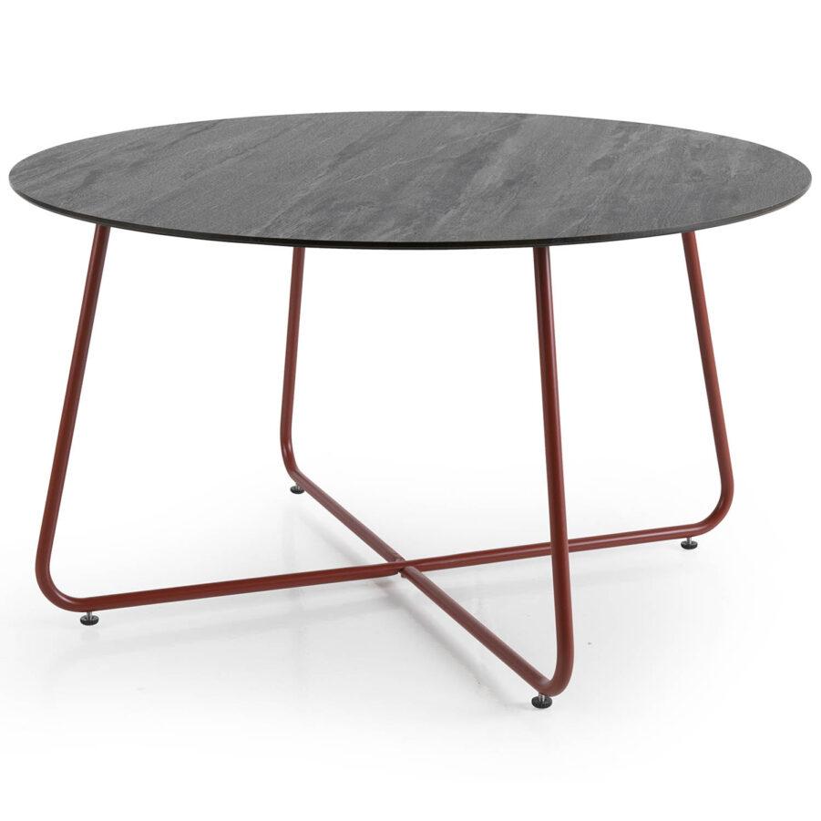 Taverny soffbord från Brafab i färgen paprika och finns med olika bordstopp.