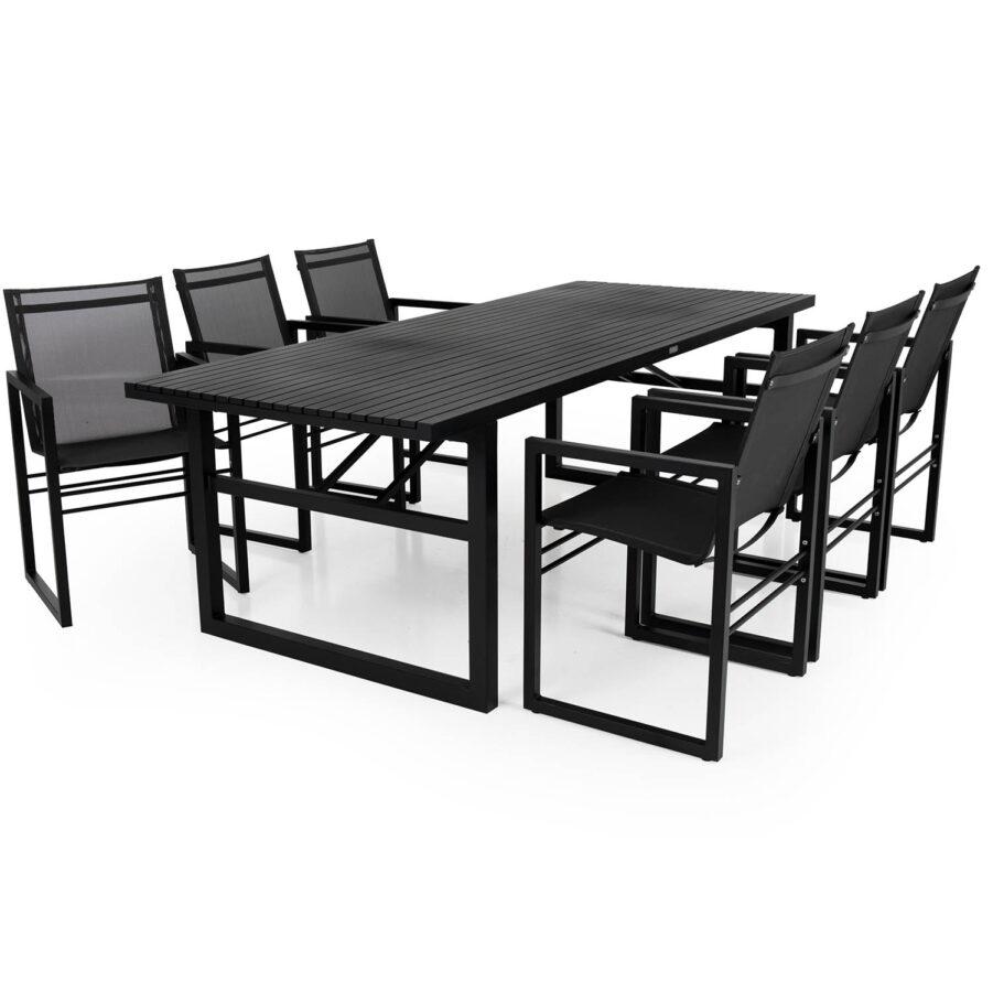 Brafab Vevi karmstol och bord svart