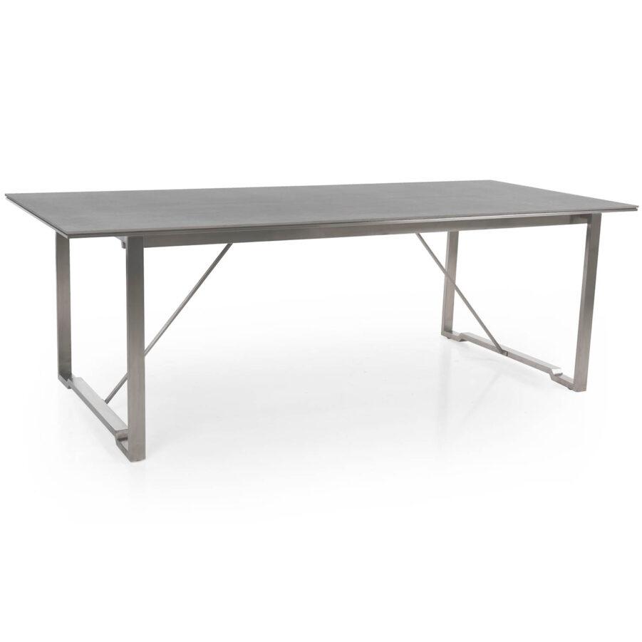 Brafab Gotland matbord 220x95 cm rostfri stål