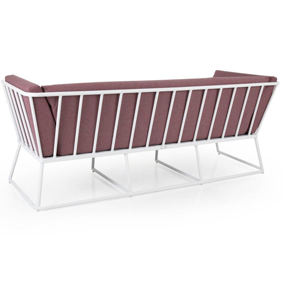Brafab Vence 3-sits soffa vit/peony