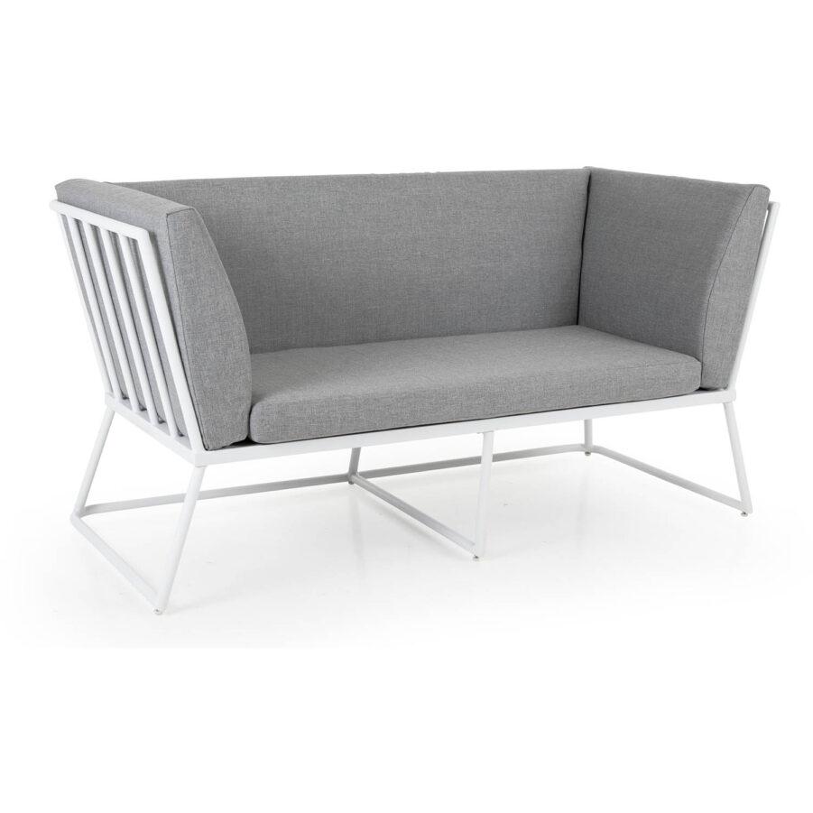 Brafab Vence 2-sits soffa vit/grå