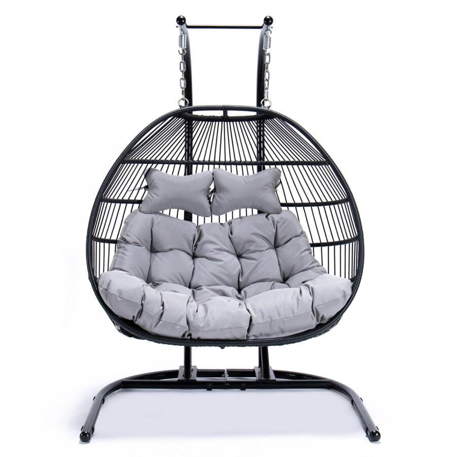 Move hänggunga 2-sits med ljusgrå dyna.
