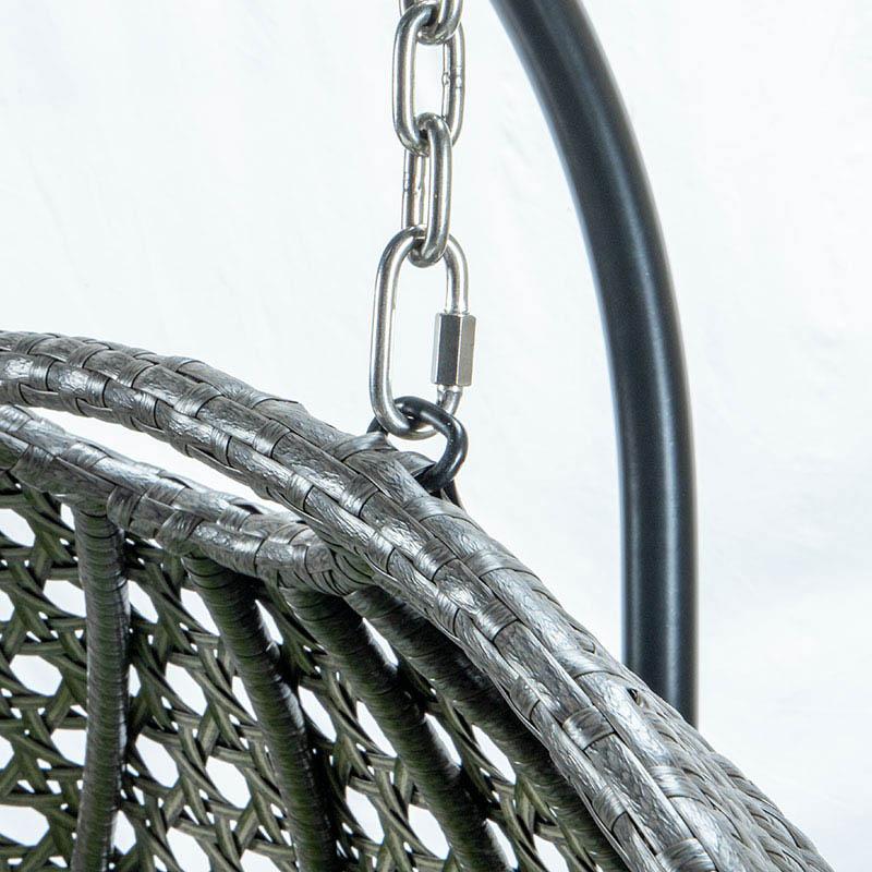 Detaljbild på Relax 2-sitshänggunga med stativ.