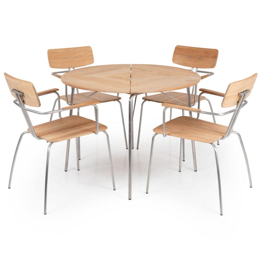 Kozani matgrupp med fyra stycken stolar, från Brafab.