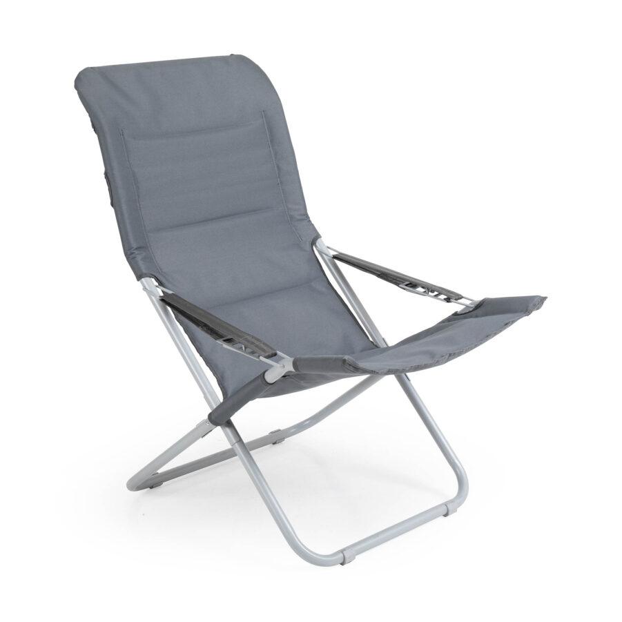 Tarn strandstol i grått från Brafab.