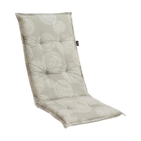 Brafab Naxos positionsdyna grå/vit mönstrad bomull/polyester