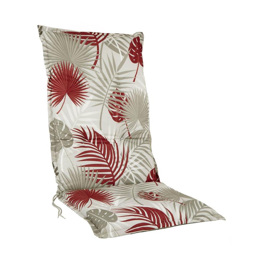 Brafab Naxos positionsdyna grå/röd mönstrad bomull/polyester