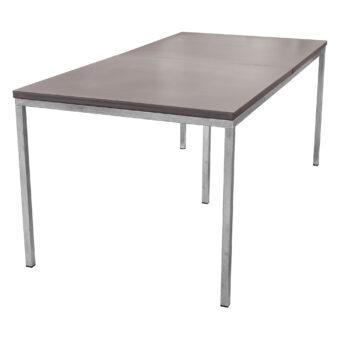 Matbord i betong mystic black/galv 200x100 cm