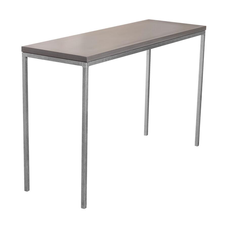 Konsolbord Mystic Black i storleken 120x40 cm med galvat stativ.