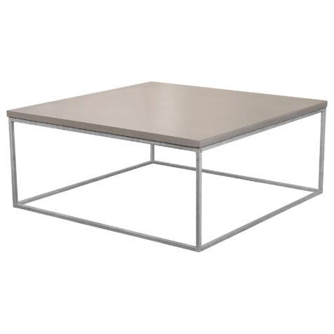 Mystic soffbord i storleken 100x100 cm med kubunderrede i galvat.