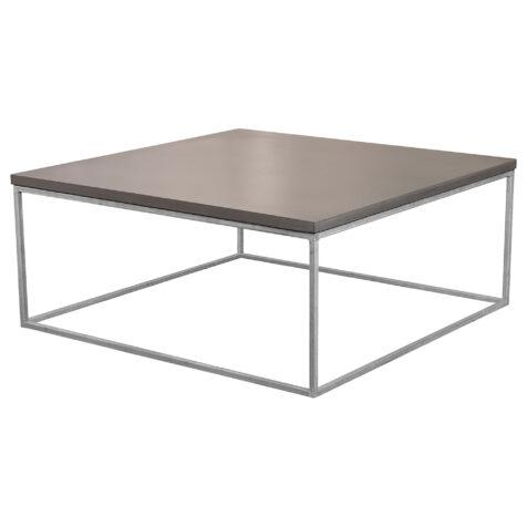 Mystic Black soffbord i storleken 100x100 cm med kubunderrede i galvat.