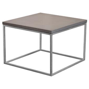 Soffbord i betong kub mystic black 60x60 cm