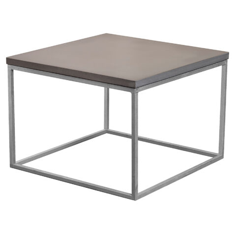 Mystic Black soffbord i storleken 60x60 cm med kubunderrede i galvat.