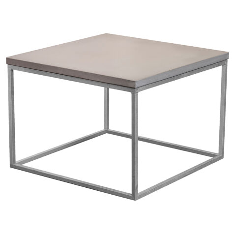Mystic soffbord i storleken 60x60 cm med kubunderrede i galvat.