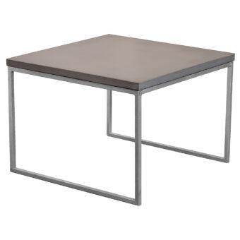 Soffbord i betong halvkub mystic black 60x60 cm