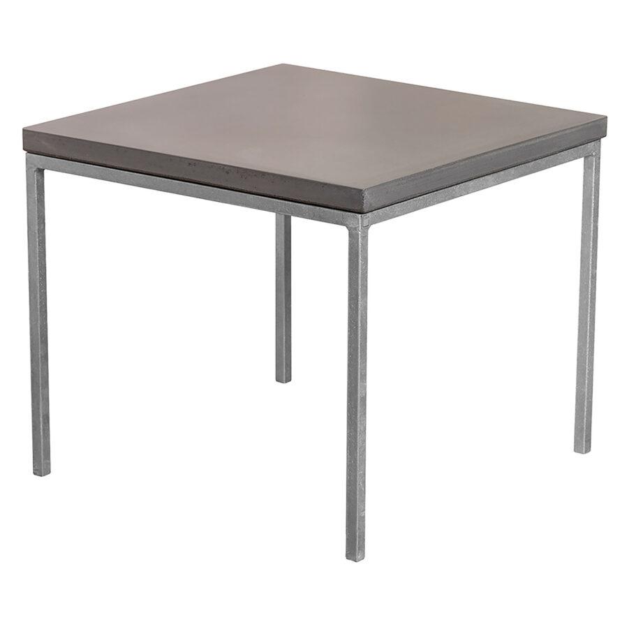 Soffbord i storleken 50x50 cm med mystic black bordsskiva.