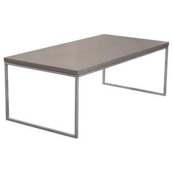 Soffbord i betong halvkub mystic black 120x60 cm
