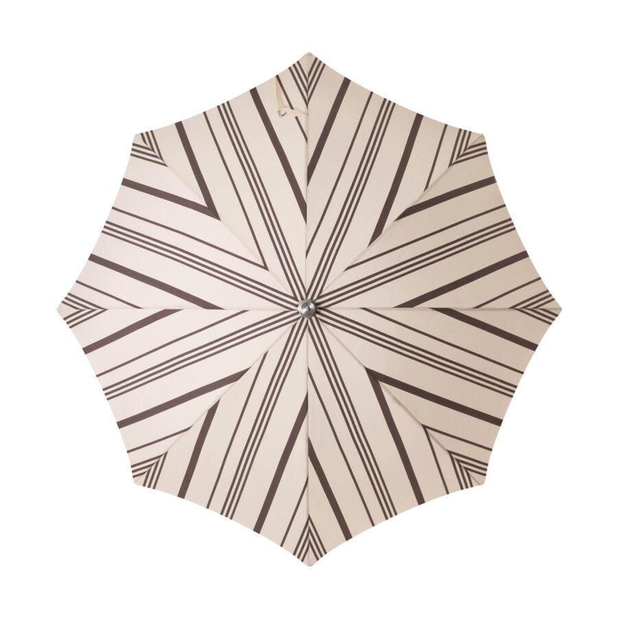 Parasollduk i vintage svart och vitrandigt till Premium strandparasoll.