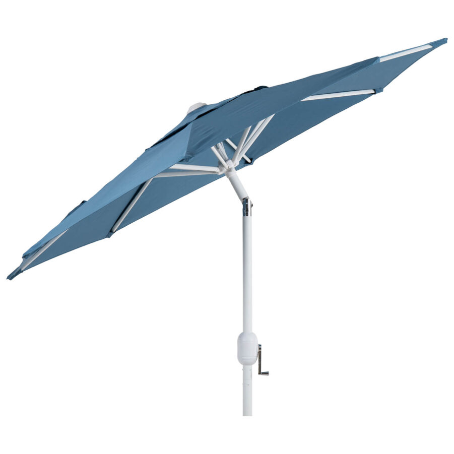 Brafab Cambre parasoll Ø200 cm vit/midnight blue