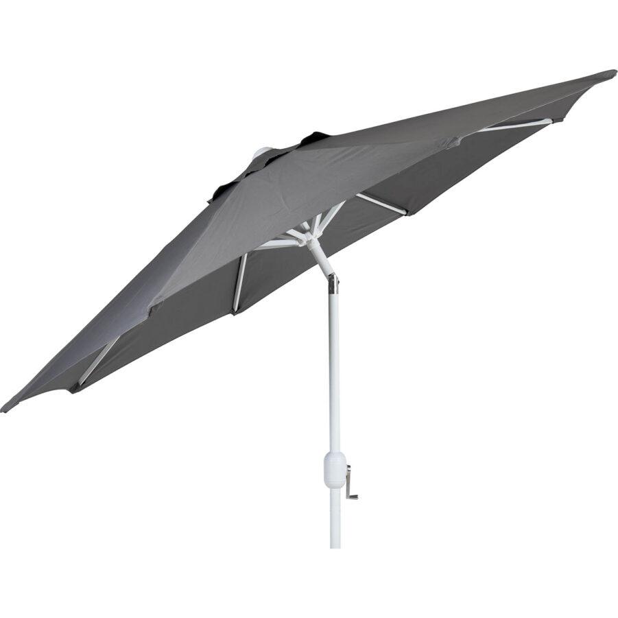 Brafab Cambre parasoll Ø250 cm vit/grå