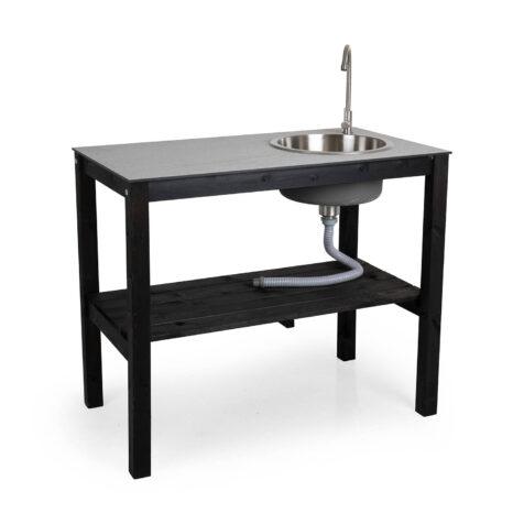 Brafab Holma utekök med vask svart/grå