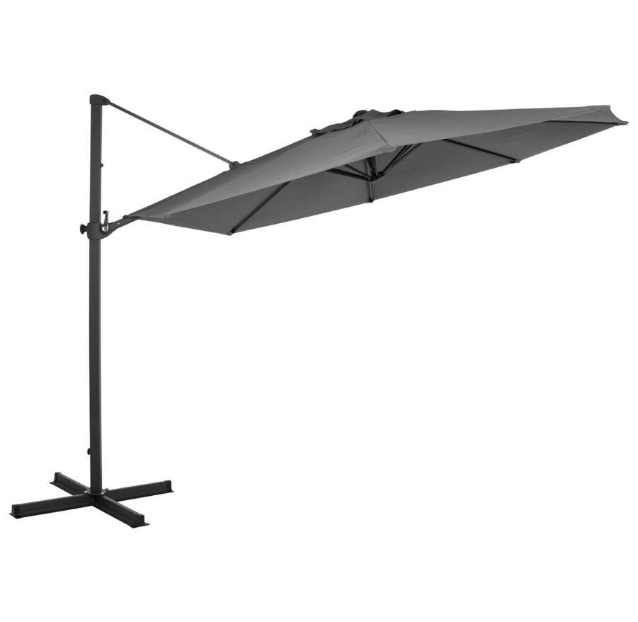 Brafab Mollia frihängande parasoll Ø300 cm antracit/grå