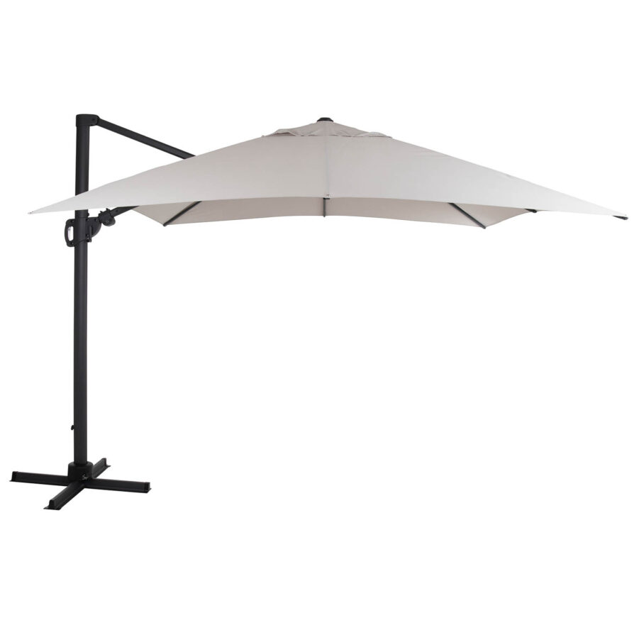 Brafab Varallo frihängande parasoll 300x300 cm antracit/khaki