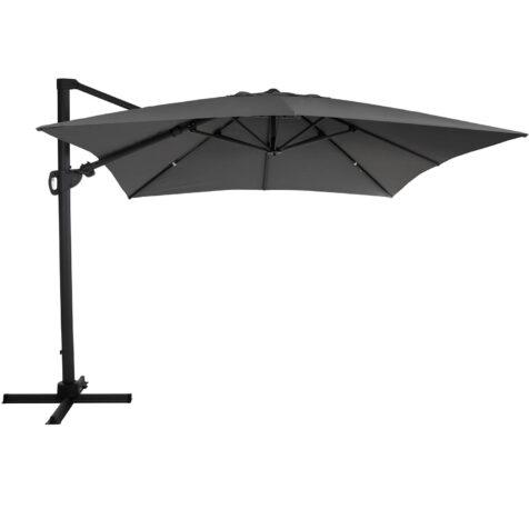 Brafab Varallo frihängande parasoll 300x300 cm antracit/grå