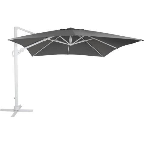 Brafab Varallo frihängande parasoll 300x300 cm vit/grå