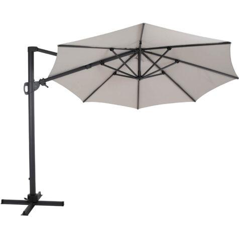 Brafab Varallo frihängande parasoll Ø300 cm antracit/khaki