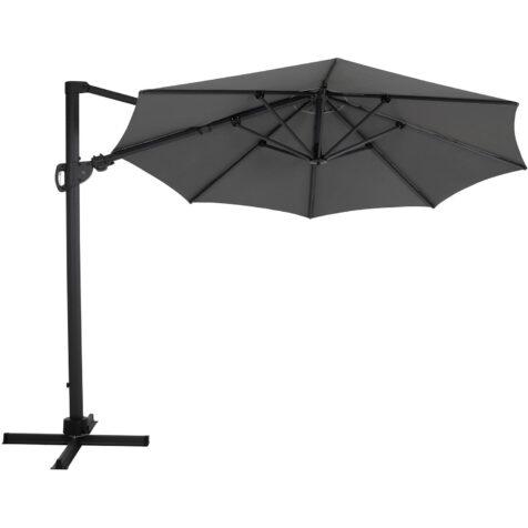 Brafab Varallo frihängande parasoll Ø300 cm antracit/grå
