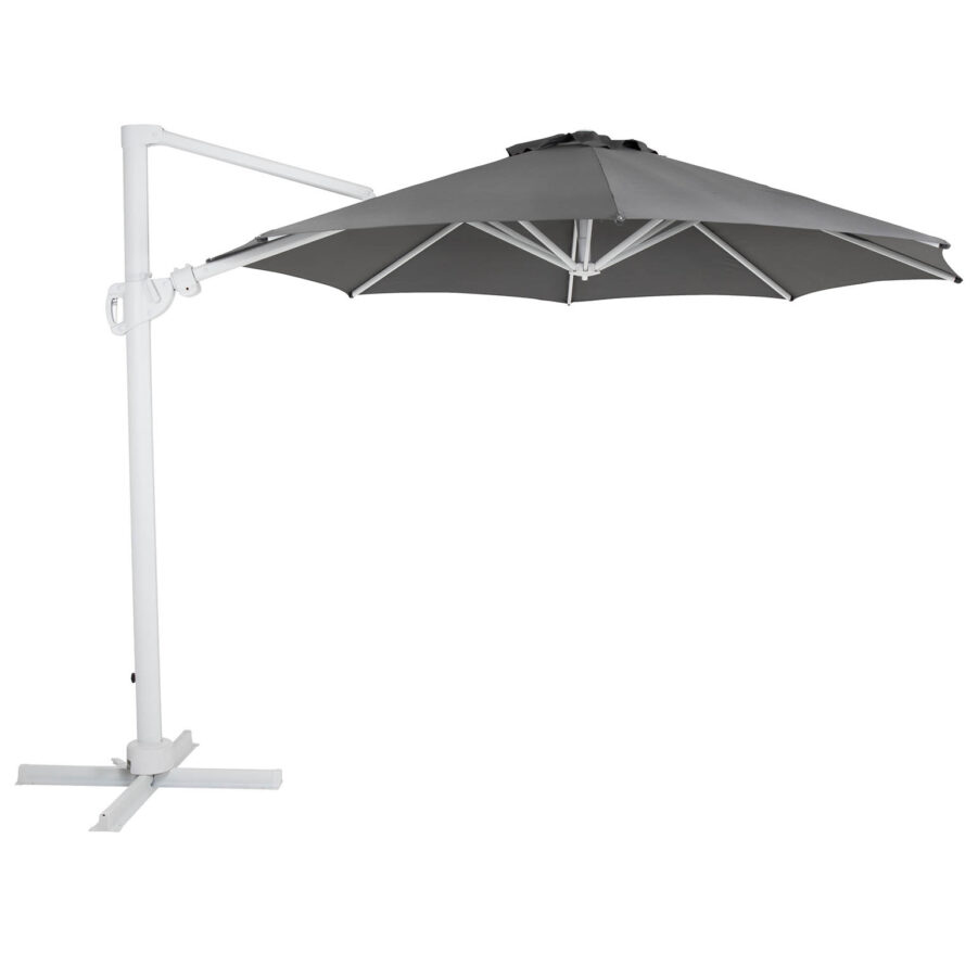 Brafab Varallo frihängande parasoll Ø300 cm vit/grå