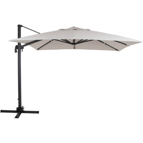 Brafab Linz frihängande parasoll 300x300 cm antracit/khaki