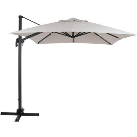 Brafab Linz frihängande parasoll 250x250 cm antracit/ljusbeige