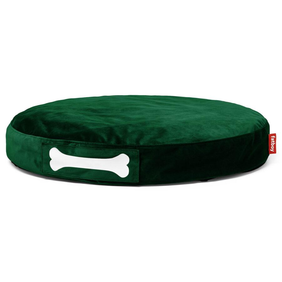 Doggilounge Velvet i färgen smaragdgrön.