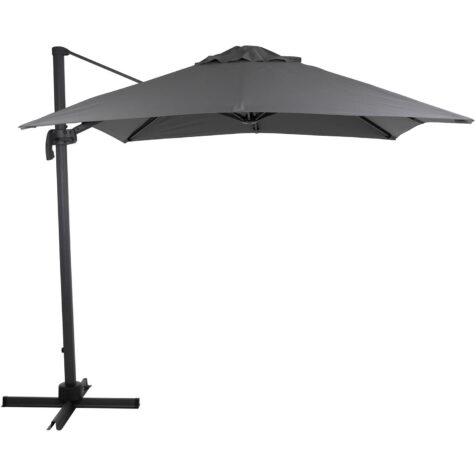 Brafab Linz frihängande parasoll 250x250 cm antracit/grå