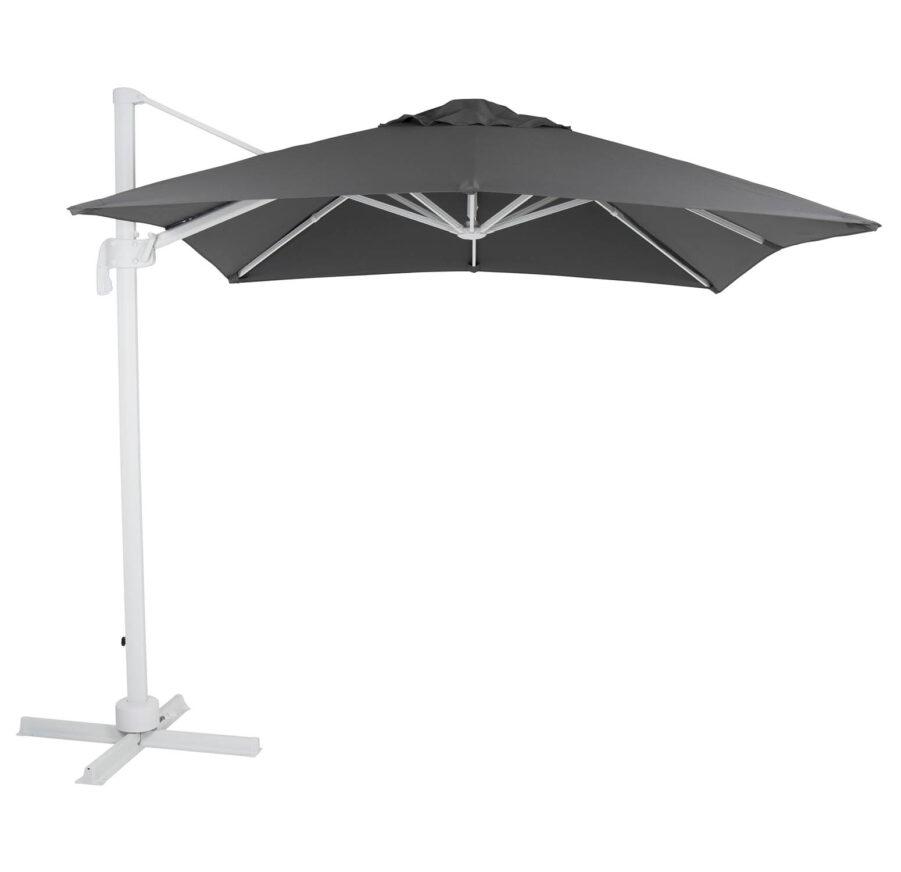 Brafab Linz frihängande parasoll 250x250 cm vit/grå