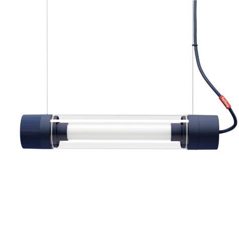Tjoep liten lampa gråblå, hängandes.