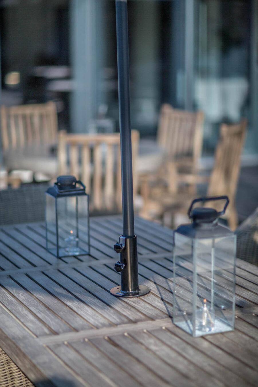 Parasollfot för terrasser och bord från Smartfoot.