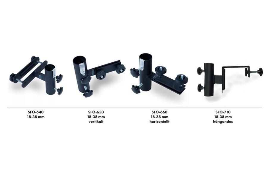 ´Smartfoot balkongfästen olika modeller.