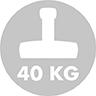 Rekommenderad parasollfotsvikt: 40 kg