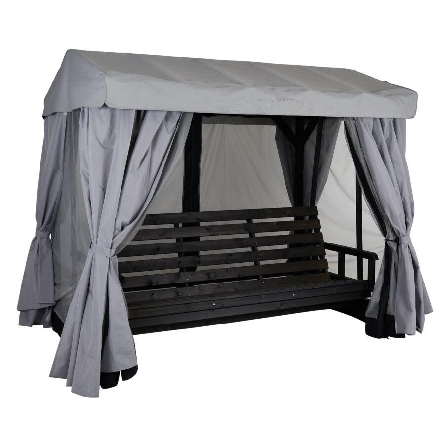 Brafab Heaven hammock svart inkl. grå tak och väggar