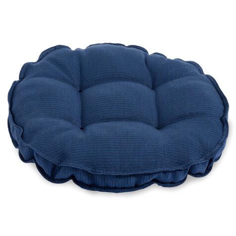 Andros sittdyna i blå strukturdralon.