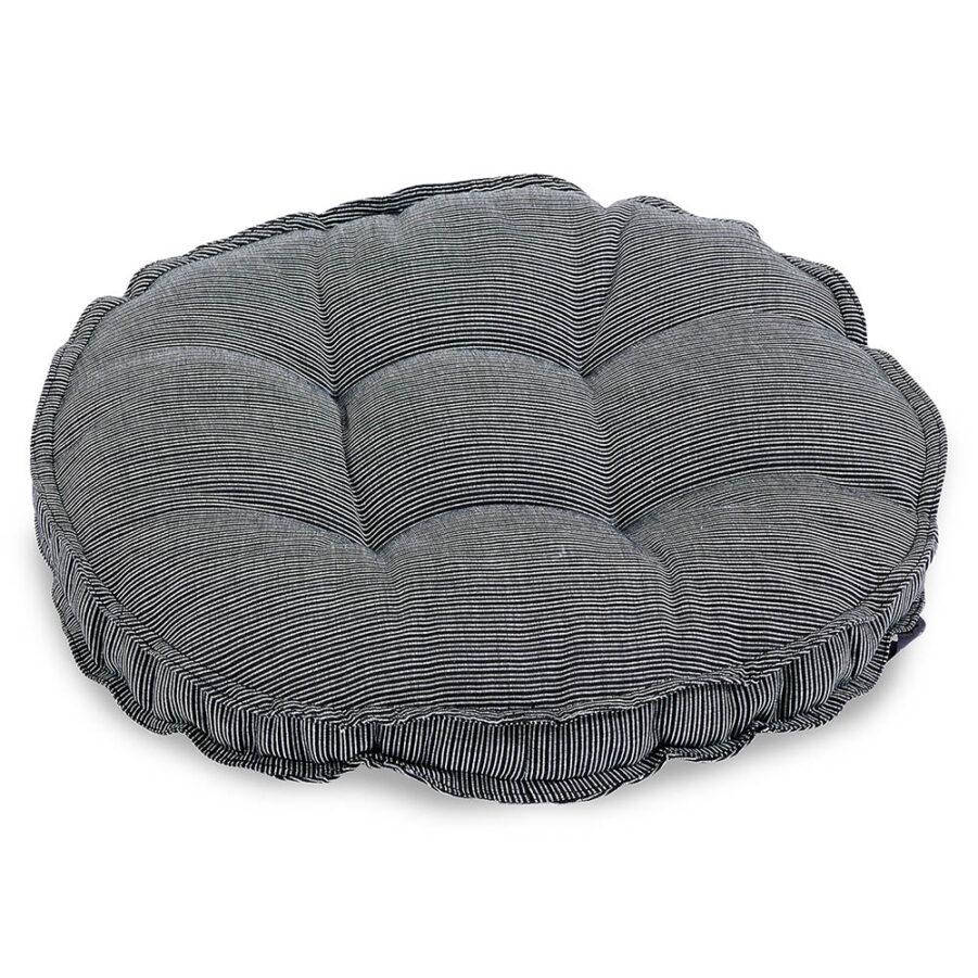 Sittdyna rund i granitgrå strukturdralon från Fritab.