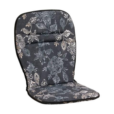 Nadira plaststolsdyna med hög rygg i svart.